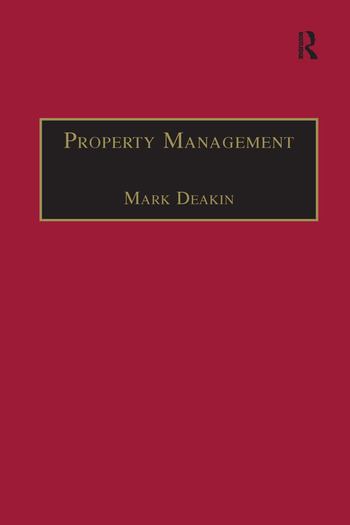 Property Management Corporate Strategies, Financial Instruments and the Urban Environment book cover