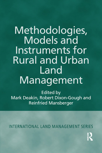 Methodologies, Models and Instruments for Rural and Urban Land Management book cover