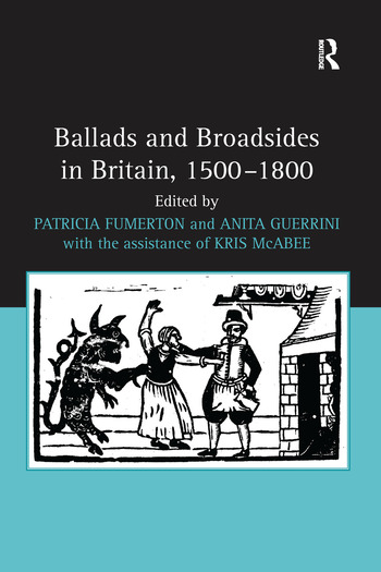 Ballads and Broadsides in Britain, 1500-1800 book cover