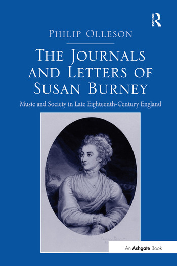 The Journals and Letters of Susan Burney Music and Society in Late Eighteenth-Century England book cover