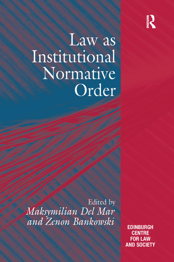 Law as Institutional Normative Order book cover