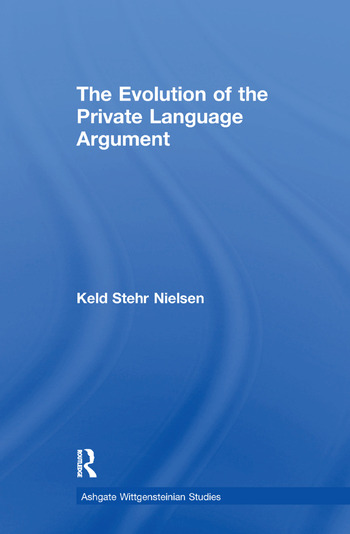 The Evolution of the Private Language Argument book cover