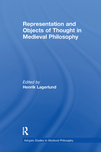 Representation and Objects of Thought in Medieval Philosophy book cover
