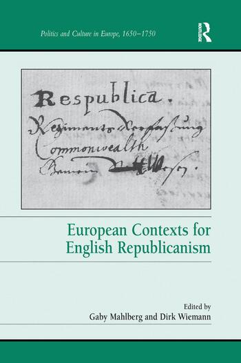European Contexts for English Republicanism book cover