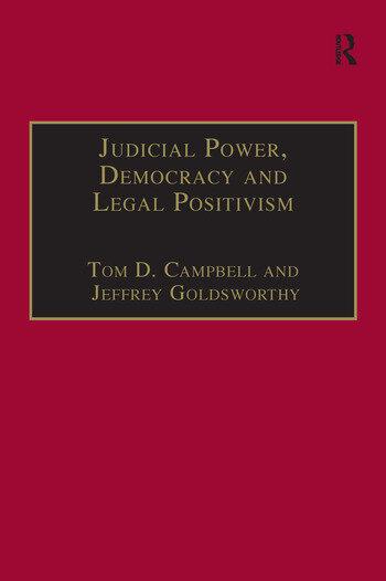 Judicial Power, Democracy and Legal Positivism book cover