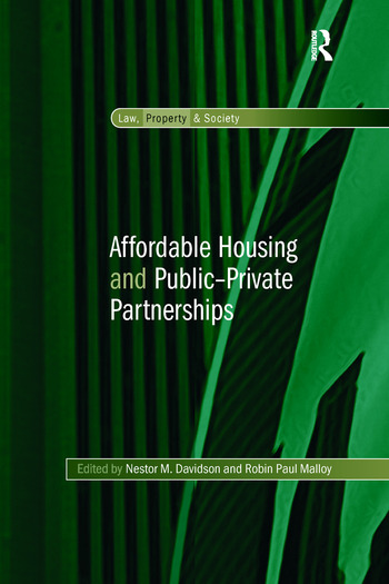 Affordable Housing and Public-Private Partnerships book cover