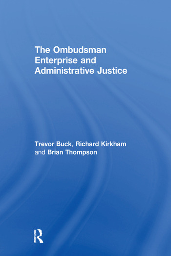 The Ombudsman Enterprise and Administrative Justice book cover