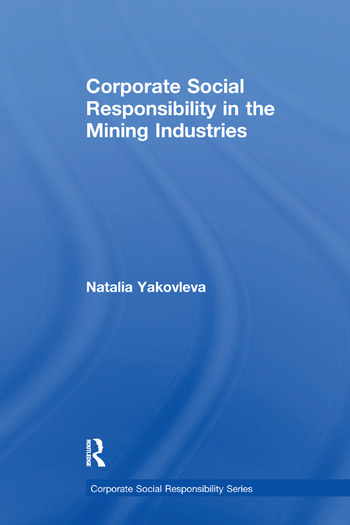 Corporate Social Responsibility in the Mining Industries book cover