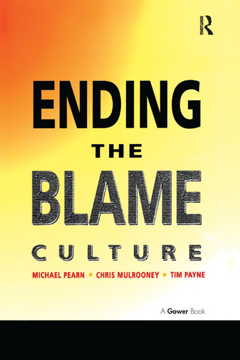 Ending the Blame Culture book cover
