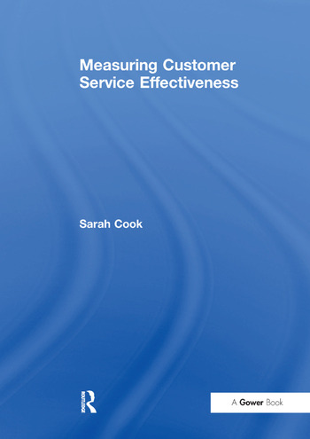 Measuring Customer Service Effectiveness book cover