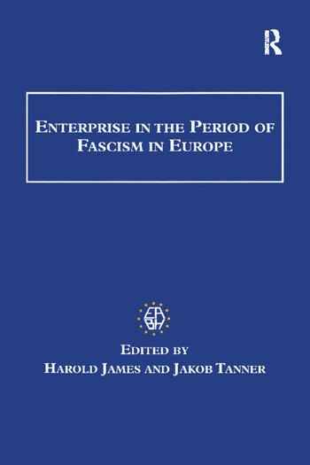 Enterprise in the Period of Fascism in Europe book cover