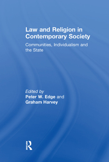 Law and Religion in Contemporary Society Communities, Individualism and the State book cover