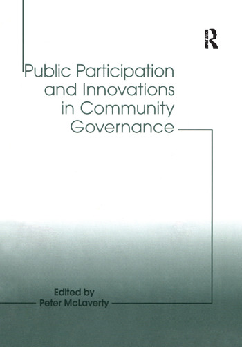 Public Participation and Innovations in Community Governance book cover