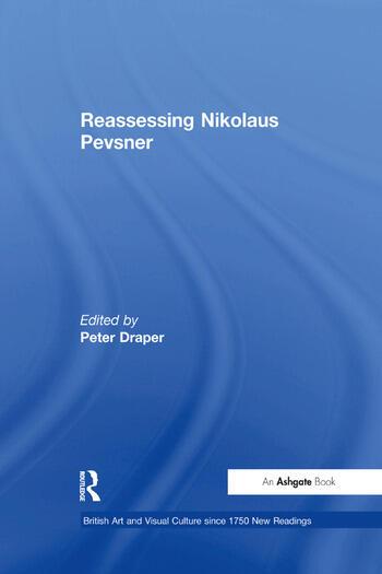 Reassessing Nikolaus Pevsner book cover