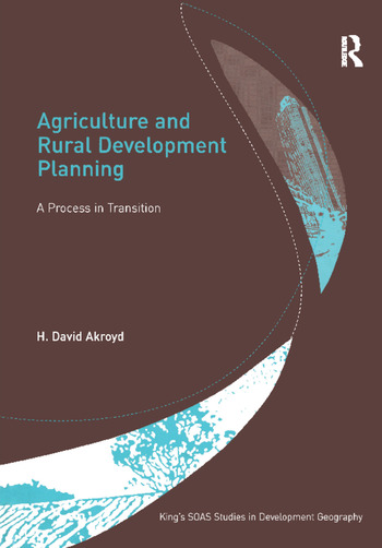 Agriculture and Rural Development Planning A Process in Transition book cover