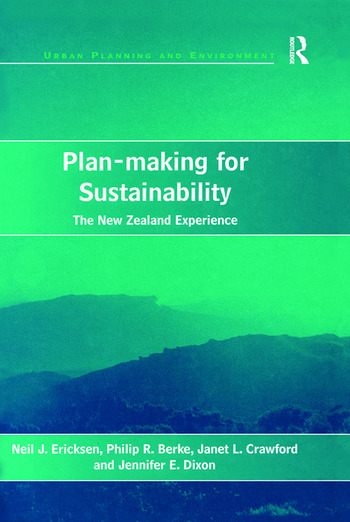 Plan-making for Sustainability The New Zealand Experience book cover