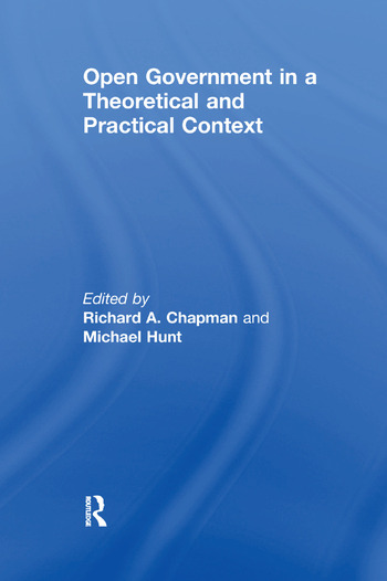 Open Government in a Theoretical and Practical Context book cover