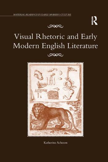 Visual Rhetoric and Early Modern English Literature book cover
