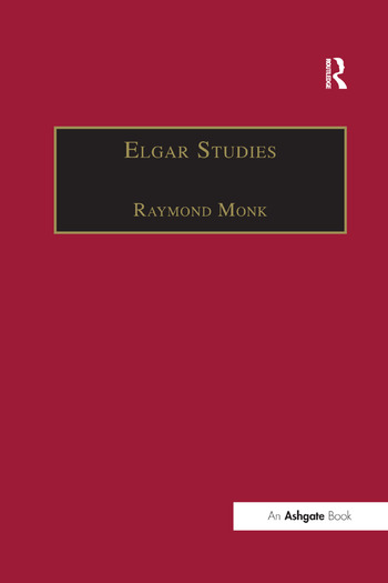 Elgar Studies book cover