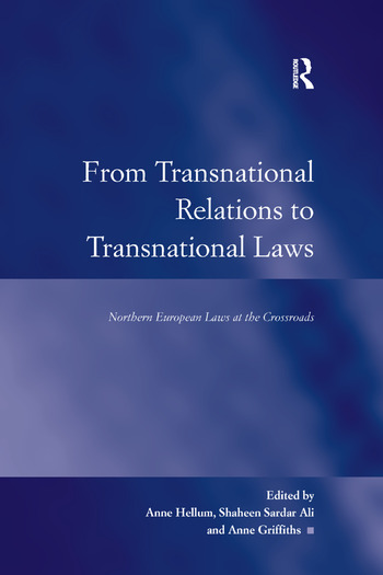 From Transnational Relations to Transnational Laws Northern European Laws at the Crossroads book cover