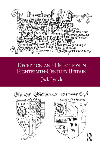 Deception and Detection in Eighteenth-Century Britain book cover