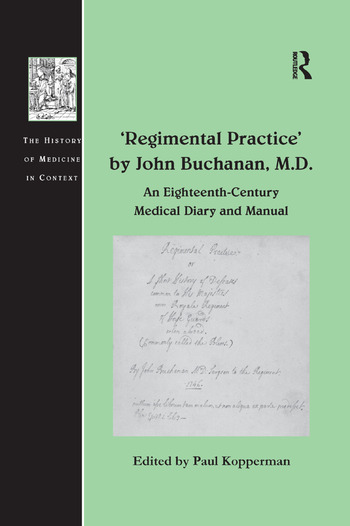 'Regimental Practice' by John Buchanan, M.D. An Eighteenth-Century Medical Diary and Manual book cover