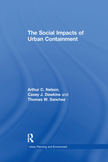 The Social Impacts of Urban Containment book cover