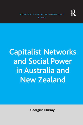 Capitalist Networks and Social Power in Australia and New Zealand book cover
