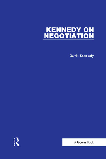 Kennedy on Negotiation book cover