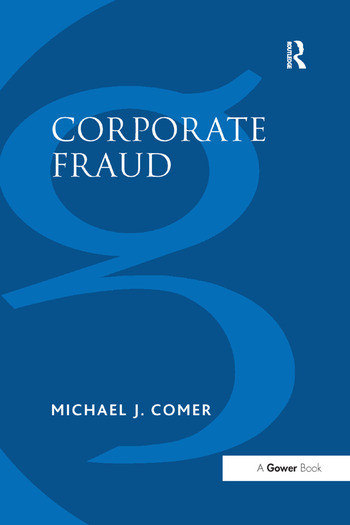 Corporate Fraud book cover