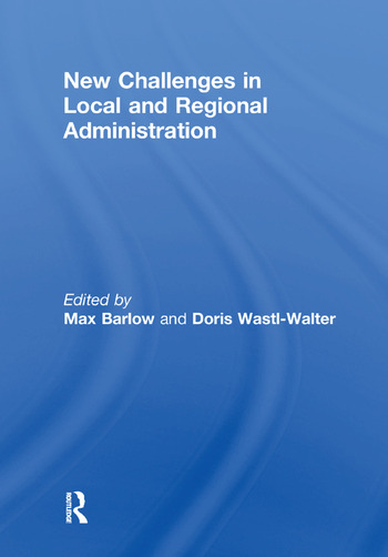 New Challenges in Local and Regional Administration book cover