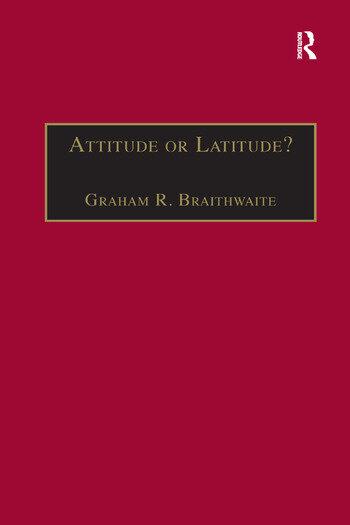 Attitude or Latitude? Australian Aviation Safety book cover
