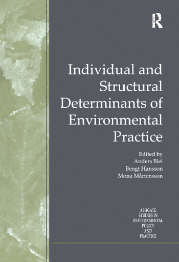 Individual and Structural Determinants of Environmental Practice book cover