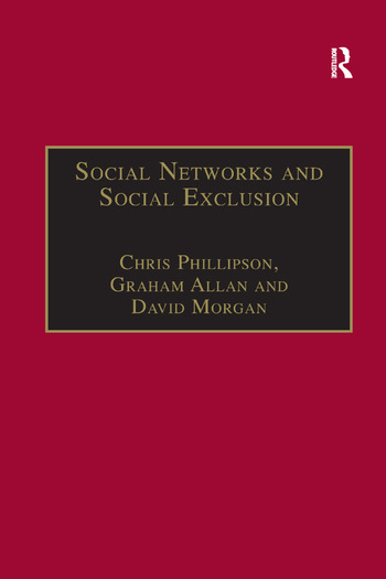 Social Networks and Social Exclusion Sociological and Policy Perspectives book cover