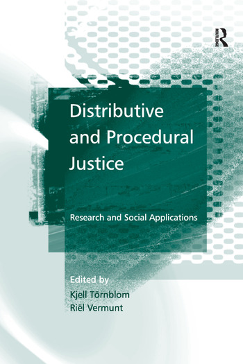 Distributive and Procedural Justice Research and Social Applications book cover