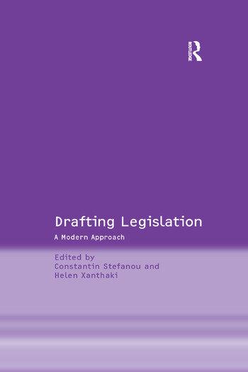 Drafting Legislation A Modern Approach book cover