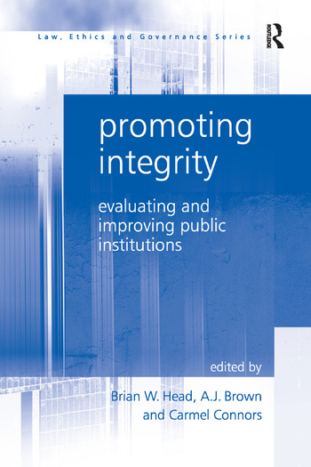 Promoting Integrity Evaluating and Improving Public Institutions book cover