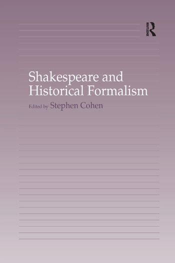 Shakespeare and Historical Formalism book cover