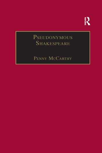 Pseudonymous Shakespeare Rioting Language in the Sidney Circle book cover
