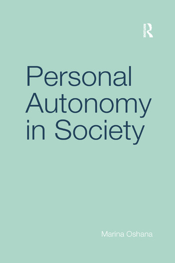 Personal Autonomy in Society book cover