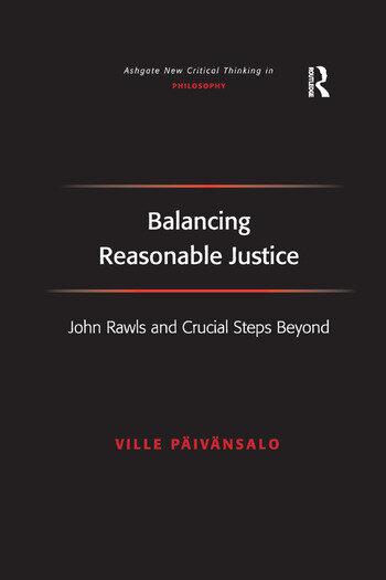 Balancing Reasonable Justice John Rawls and Crucial Steps Beyond book cover