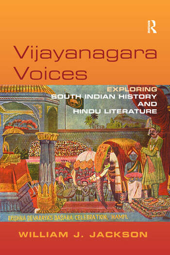 Vijayanagara Voices Exploring South Indian History and Hindu Literature book cover