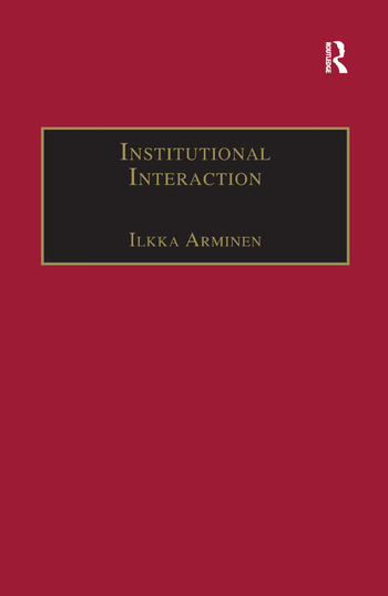 Institutional Interaction Studies of Talk at Work book cover