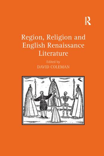 Region, Religion and English Renaissance Literature book cover
