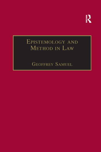 Epistemology and Method in Law book cover