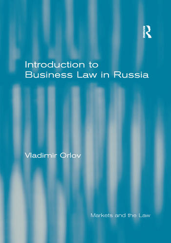 Introduction to Business Law in Russia book cover