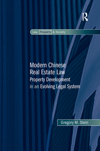 Modern Chinese Real Estate Law Property Development in an Evolving Legal System book cover