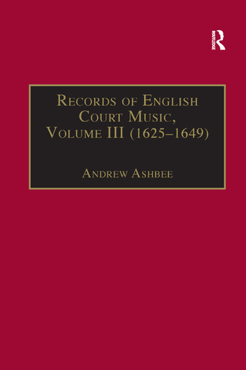Records of English Court Music Volume I (1660–1685) book cover