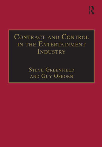 Contract and Control in the Entertainment Industry Dancing on the Edge of Heaven book cover