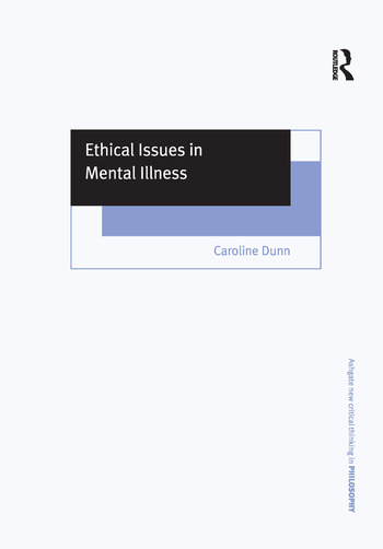 Ethical Issues in Mental Illness book cover